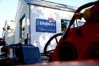 The Duke of Kent opens the RNLI Lifeboat Station at Carrybridge.