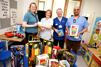 Liberty Insurance Employees donate Toys to South West Hospital in County Fermanagh.