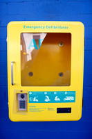 Broken defibrillator case in lisnaskea.