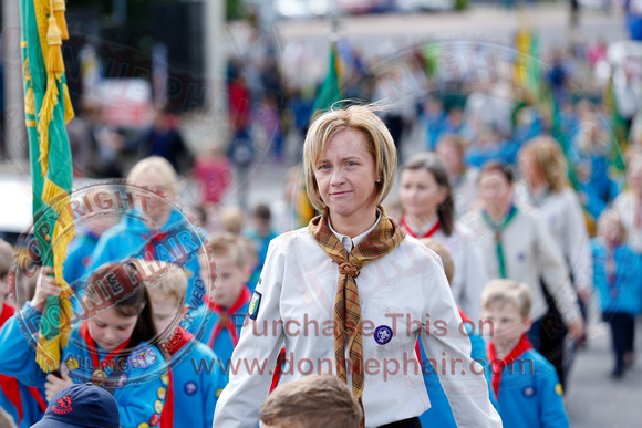 Fermanagh County Scout Council's Annual Parade in Enniskillen.