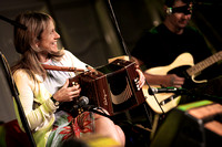 Sharon Shannon and Eleanor Shanley at the Newtownbutler Festival.