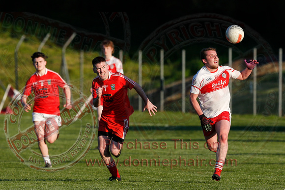 St. Pats DOnagh (0-06) V Newtonwbutler (2-11) in Senior GAA Football League, Division Two.