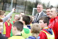 Northern Ireland Manager Michael O'Neill visits Lisnaskea Rovers.
